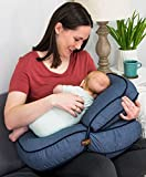 Leachco Natural Boost - Adjustable Nursing Pillow - Denim