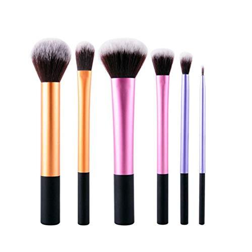 heacker 6 pièces/Maquillage Femmes Brosses mis Eyeliner Teint en Poudre Contour Pinceau Kit Outils cosmétiques