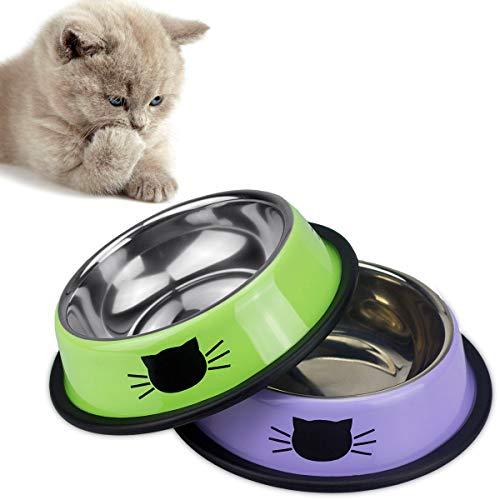Ureverbasic Cat Bowls Pet Bowl Cat Food Water Bowl