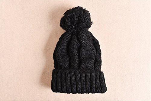 MONEYY Chapeau Femme Hiver coréen édition marée Loisir Cent Mignon étudiant Chapeau Protecteur d'oreille en Tricot d'hiver Chaud, F