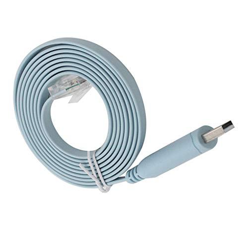 Mingtongli Reemplazo de Windows fot USB a RJ45 Hembra de Serie routers de Red Cable Adaptador RS232 a USB 2.0