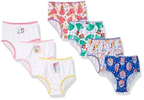 Disney Little Girls'  Disney Princess 7 Pack Underwear, Multi, 2T/3T