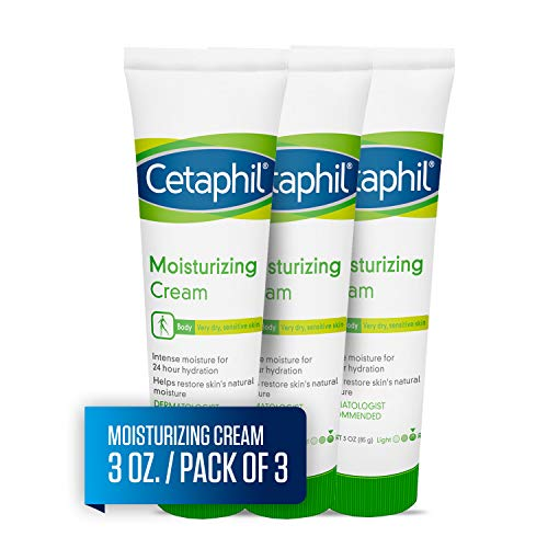 Cetaphil Moisturizing Cream for Very Dry, Sensitive Skin, Extra Strength, Fragrance Free, 3 Ounce (Pack of 3)
