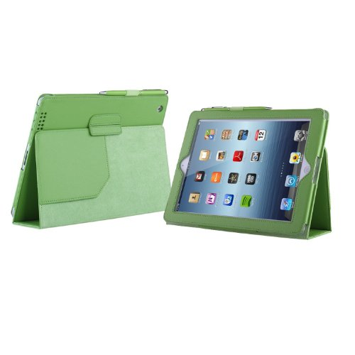 TeckNet Apple iPad 4 Case, Smart Cover PU Lederen met Flip Stand & Lifetime Garantie + Inclusief 1 Screen Protector en Stylus Pen Voor Apple iPad 2 iPad 3 iPad 4 - Levenslange Garantie