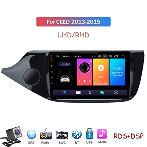 Android 9.1 Car Radio de Navegación GPS para KIA Ceed 2013-2015 con 9 Pulgada Pantalla Táctil Support WiFi FM Am RDS/DSP MP5 Player/Bluetooth Steering Wheel Control,4 Core,4G+WiFi: 2+32GB