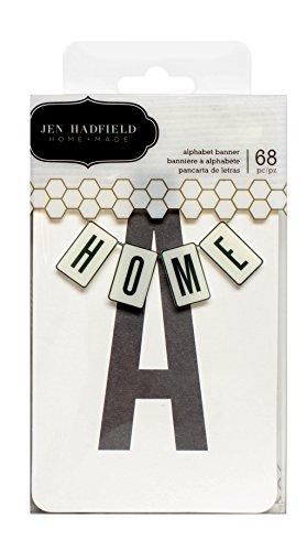 American Crafts 68 Piece Jen Hadfield DIY Home Alpha Banner