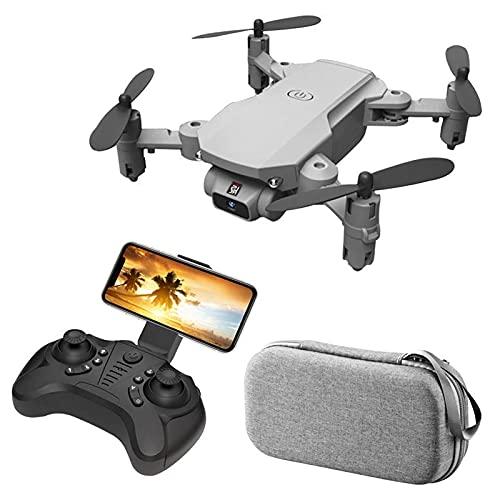 HAOJON Dron con cámara HD, cuadricóptero con Control Remoto con aplicación de Video FPV, Modo sin Cabeza, Inicio con una tecla, dron Plegable para niños, Juguete para niños y niñas, Gris