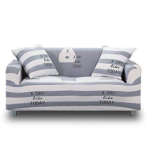 HOTNIU Funda Elástica de Sofá Funda Estampada para sofá Antideslizante Protector Cubierta de Muebles (Dos Plazas, Patrón #12)