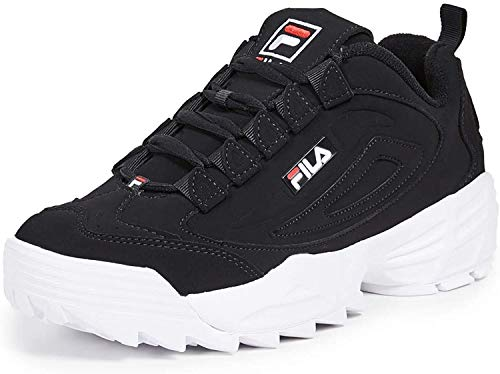 Fila Men's Disruptor III Sneakers (11.5 M US, Black Red/White)