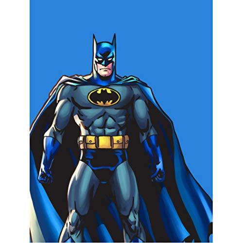 shuimanjinshan Superhéroe Batman Arte de Pared decoración del hogar Arte decoración nórdica Cartel de habitación de niños de guardería 40x60cm Sin Marco HZ-1533