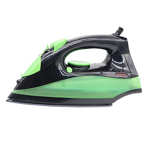 MEETGG Hierro eléctrico Potente vapor spray control de temperatura, portátil mini, placa inferior de cerámica, para planchar ropa
