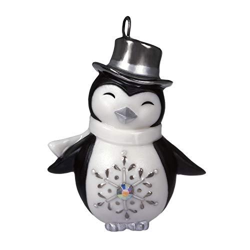 "Price comparison product image Hallmark Keepsake Christmas 2019 Year Dated Pretty Miniature Ornament,  Porcelain,  1.31"""