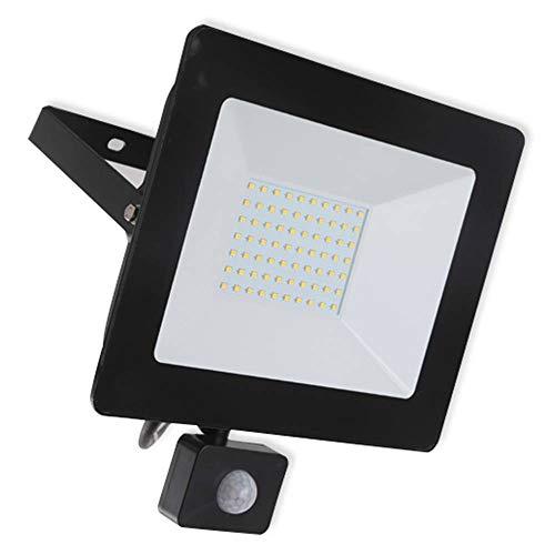 Aigostar 30W Focos LED Exterior con Sensor Movimiento,2700LM Super Brillante Foco LED Exterior,IP65 Impermeable Proyector LED Exterior,6400K Blanco Fría Luz Exterior, para Jardín, Garaje, Patio, etc
