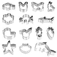 【Nombreux de Styles】 : Notre set contient 14 formes différentes de moules de biscuits fondants, comme les animaux marine:Emporte Pièce de calmar, de requin, d' hippocampe, de coquillage, de dauphin, d'étoiles de mer. Il existe également d' emporte Pi...