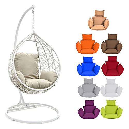 ZJHTK Cojín de asiento para colgar huevos, de ratán, para jardín, interior, multicolor, color naranja