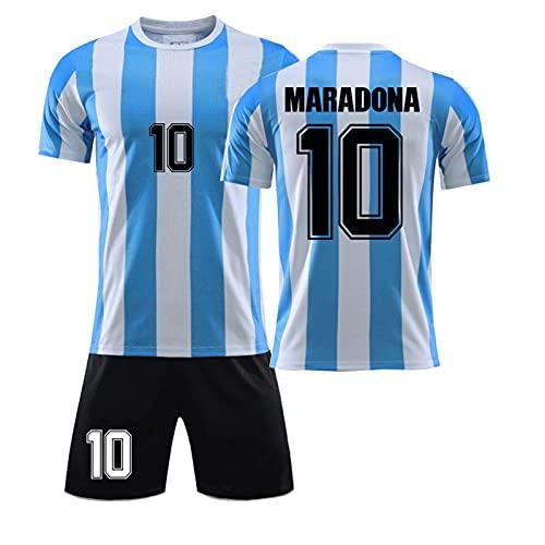 XXXH Camiseta de fútbol para Hombre, Diego Maradona # 10, Argentina Retro...