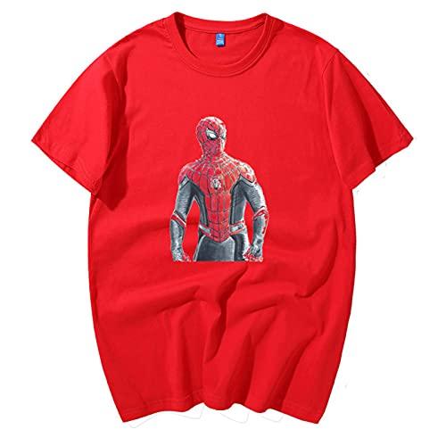 KKJKK Camiseta Personalizada de Spider-Man, Spider-Man Comics Spiderman Gift Kids Adult tee Top Workout tee Compression Tight Sport Fitness Gym Camiseta Superhero Spiderman Disfraces(Size:S)