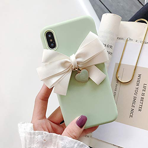 WZ Funda para Teléfono Móvil Samsung S10 / S10e Silicone Cute Soft Shell Samsung S8 / S9 / S7 / S7edge Samsung s7edge [Lazo Verde]