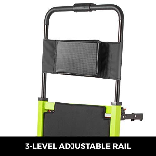 VEVOR 200W Elektrisch Rollstuhl Treppenlift Kletteraufzug Elektrische Treppe Rollstuhl Aluminiumlegierung Faltbare Tragbare Motorisierte Lithiumbatterie Klettern Crawler(Grün)