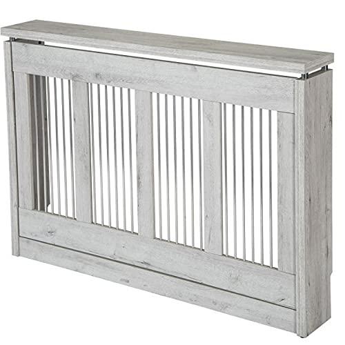 TOP KIT | Cubre radiador Cristian 3121 | Medidas exterior 120 x 83,5 x 18,5 cm | Medidas interior 114,5 x 81 x 15 cm | Cubreradiador moderno | Blanco Mozart