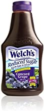 Welch's Reduced Sugar Concord Grape Jelly 1/2 the Sugar (Pack of 2)