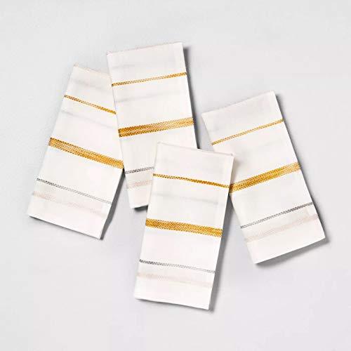 4pk Napkins Stripe Sour Cream Multi Stripe - Hearth & Hand™ with Magnolia