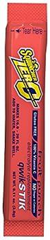 Sqwincher 060102-FP Zero Qwik Stik Powder 20 oz Red Standard  Pack of 50