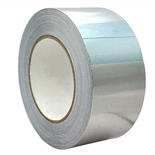 Gobesty Aluminium Klebeband, 50mm x 50m Aluminium klebeband Hitzebeständig Alu Klebeband für HLK-Reparatur, Kanäle, Isolierung, Trockner, Küche, Undicht.