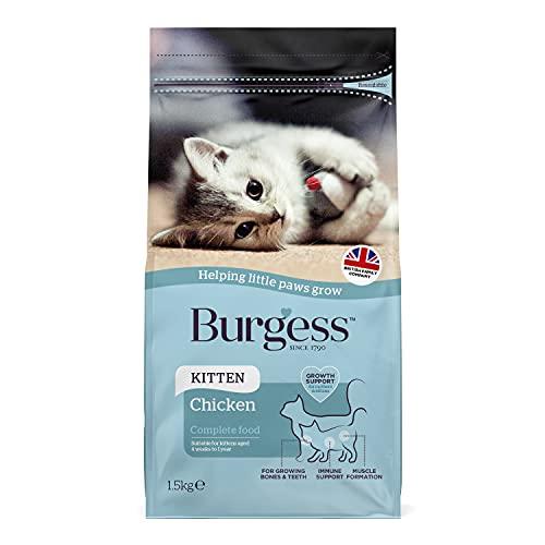 Burgess Dry Kitten Food Chicken, 1.5 kg