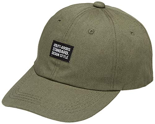 [キーズ] 帽子 キャップ メンズ レディース シンプル ベースボールキャップ 綿 ワッペン 春 夏 秋 冬 KSH152 オリーブ 日本 55-61cm/ベルト調節 (FREE サイズ)