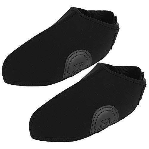 Qirg Cubierta para Raquetas de Nieve, cubrezapatos para Esquiar Equipo Cubierta Protectora para Calzado de esquí Poliéster Resistente al Viento Mantiene la Mano Caliente para Cualquier pie Que(Negro)