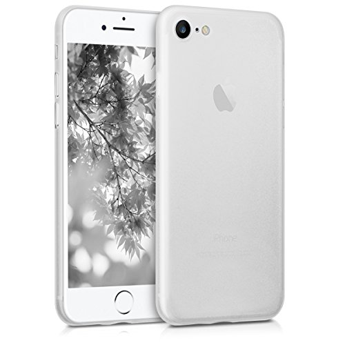kwmobile Cover Ultra Slim Compatibile con Apple iPhone 7/8 / SE (2020)- Custodia Protettiva Super Sottile Semi Trasparente - Protezione Morbida Soft Case