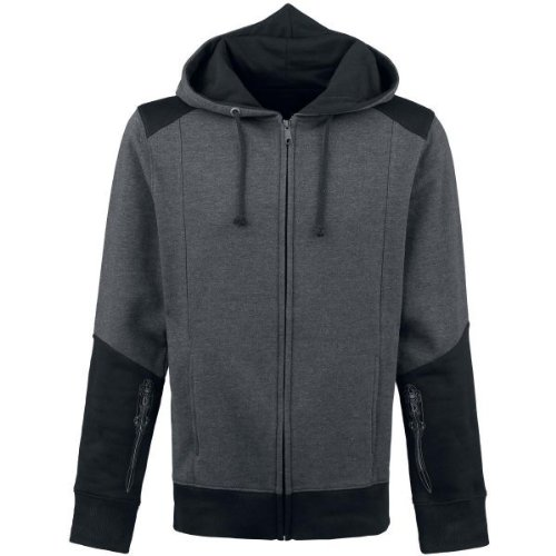 Bioworld EU Assassins Creed IV Black Flag sweater, Black(Black/ Grey), Medium