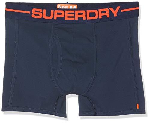 Superdry Herren Sport Boxer Double Pack Badehose, Blau (Navy Multipack J6D), Small