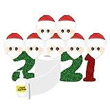 【Area di decorazione】: famiglia e amici vestiti di Natale festeggiano insieme le feste di Natale, perfetto per la stanza, ad es. pareti, frigoriferi, finestre, ringhiere letto, vetrine negozio, ufficio ecc.