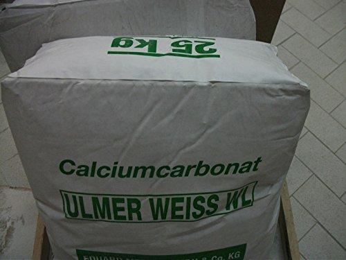 Kalksteinmehl sehr weiß, 20my, 25 kg im Original Sack
