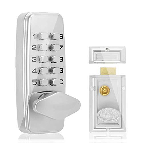 Cerradura de puerta de contraseña mecánica digital, 2-4 dígitos Bloqueo de código mecánico Gabinete de puerta exterior para interiores Cerradura de seguridad codificada de seguridad
