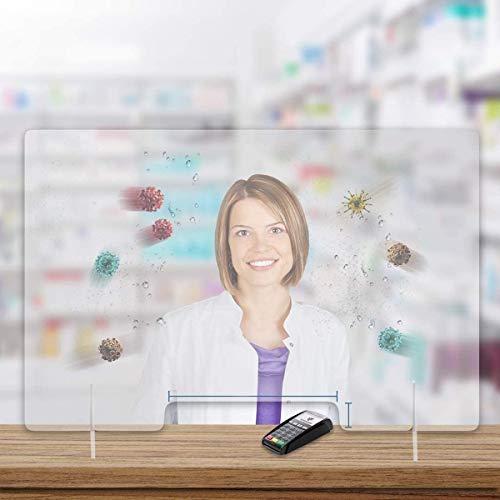 WFLRF Plexiglasglas/Bildschirm/Schutzwand | Bürotrennung | Plexiglasplatte | Anti-Kontamination Gegen Mikroben Viren Bakterien | Counter Counter Office Commerce, 30 cm X 24 cm