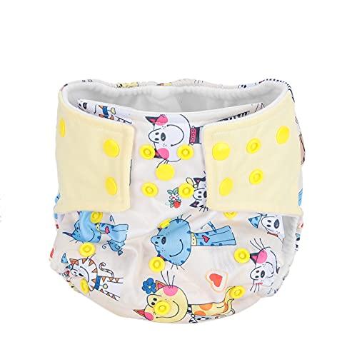 Pañal infantil, pañal lavable, impermeable, patrón de dibujos animados a prueba de fugas para el hogar, para el bebé(Gato de dibujos animados)