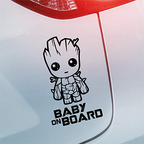 LondonDecal Baby On Board – Autoaufkleber aus Vinyl Baby Groot Guardians of The Galaxy