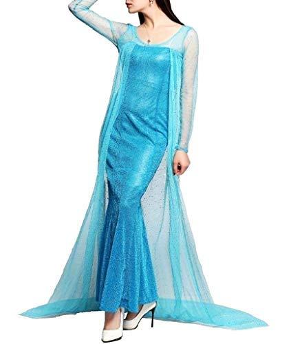 Vestido de Carnaval para Elsa para Adultos Film Cinema Costume Ice Princess...