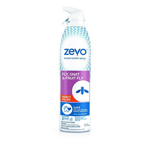 Zevo Instant Action Flying Insect Killer Repellent for Flies Gnats Fruit Flies & Other Flying Insects (10 oz) | Indoor Outdoor Use | Bio-Selective Pet People Friendly Safe | 10 Oz Bottle