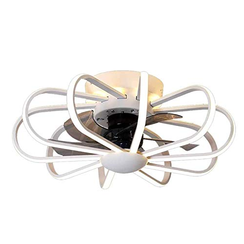 Ventilador De Techo LED Para Habitaciones Infantiles Con Iluminación Y Control Remoto, Plafón Regulable Moderno 3 Velocidades Regulable Para Dormitorio, Lámpara De Techo Ventilador,Blanco
