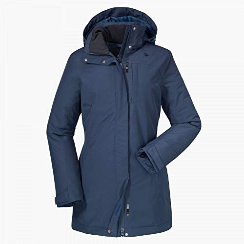 Schöffel Damen Insulated Jacket Portillo Jacken, Navy Blazer, 44