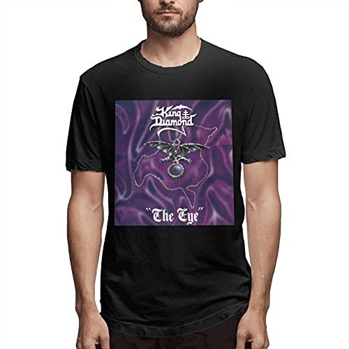 Fournyaa Ki-Ng Di-Amond The Eye Men Classic Breathable Crew T Shirt Fashion Short Sleeve Tee Men's Casual Tunics Black