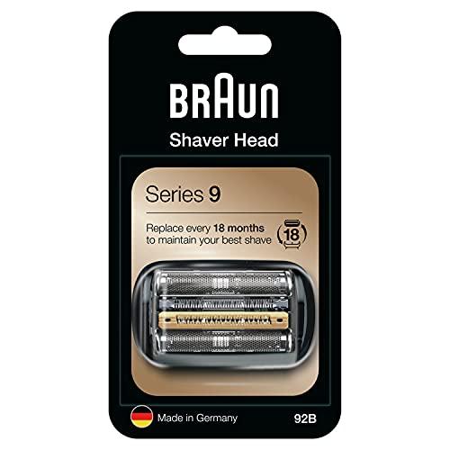 Braun Pièce de Rechange 92B Noire Pour Rasoir Électrique - Compatible Avec Les Rasoirs Series9