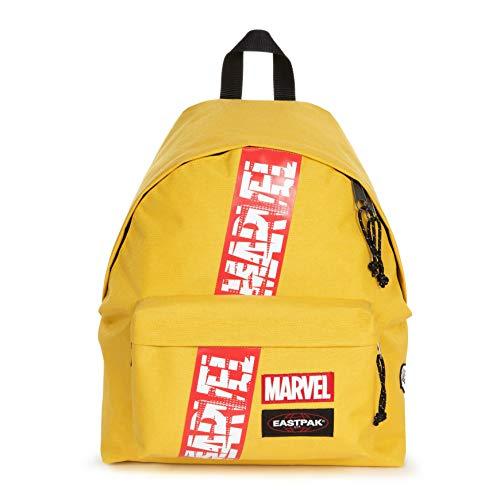 EASTPAK x Marvel Padded Pak'r Rucksack, 40 cm, 24 L, Gelb (Marvel Yellow)