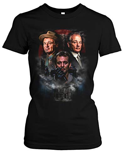 Bill Murray Damen T-Shirt | Ghostbuster St. Vincent Vintage Venkman Girlie (M, Druck: Bunt)