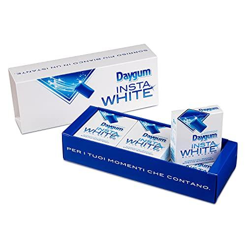 Daygum Insta White Exclusive Box, Chewing Gum Senza Zucchero, Sorriso Più Bianco, Effetto Istantaneo, Confezione Speciale da 6 Astucci