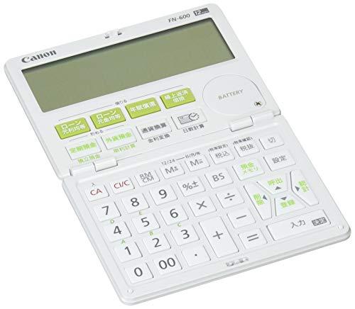 キヤノン 12桁金融電卓 FN-600 借りる計算、貯める計算に便利
